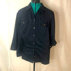 CHRISTOPHER & BANKS • button down blouse